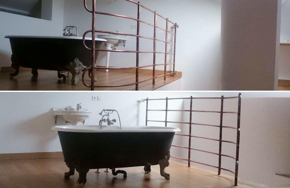 radiateur sur-mesure en cuivre